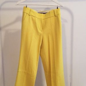 J.Crew Bright Yellow Tailored Pants